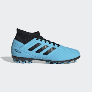 Bota de fútbol Predator 19.3 césped artificial Bright Cyan / Core Black / Solar Yellow G25799