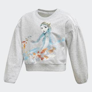 Frozen Sweatshirt Light Grey Heather / Bold Aqua FM2871