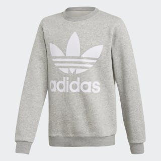 Fleece Crew sweatshirt Medium Grey Heather / White DH2706