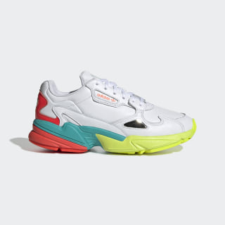 Chaussure Falcon Cloud White / Hi-Res Aqua / Solar Red EH0319