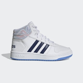 Chaussure Hoops 2.0 Mid Cloud White / Dark Blue / Real Blue EE8546