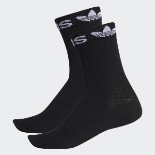 Linear Cuff Crew Socks 2 Pairs Black ED8729