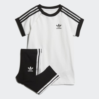 Conjunto vestido y pantalón 3 bandas White / Black DV2807