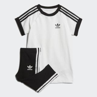 Комплект: платье и брюки 3-Stripes white / black DV2807