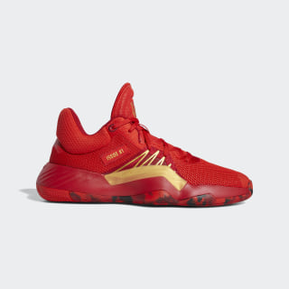 D.O.N. Issue #1 Shoes Red / Power Red / Gold Metallic EG0490