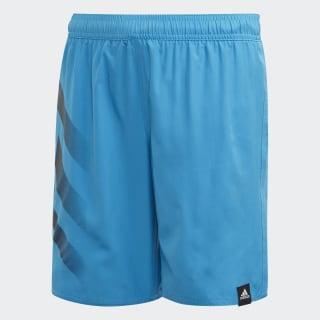 Bold 3-Stripes Swim Shorts Shock Cyan FL8711