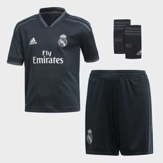 Real Madrid Away minisæt Tech Onix / Bold Onix / White CG0560