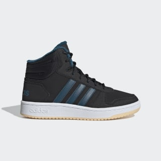 Hoops 2.0 Mid Schuh Core Black / Tech Mineral / Glow Orange EE6703