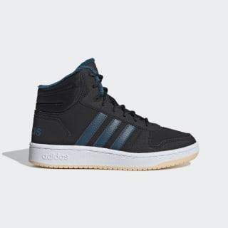 Hoops 2.0 Mid Shoes Core Black / Tech Mineral / Glow Orange EE6703