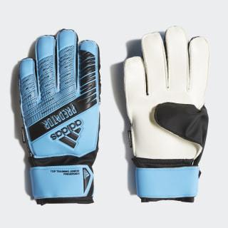 Brankárske rukavice Predator Top Training Fingersave Bright Cyan / Black DY2601