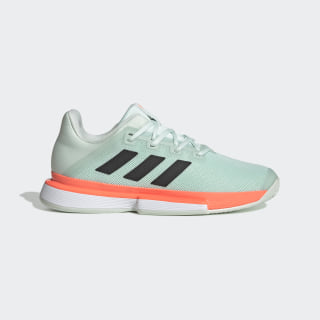 Chaussure SoleMatch Bounce Hard Court Dash Green / Core Black / Signal Coral EG2216