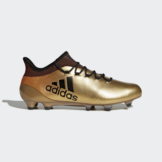 X 17.1 Firm Ground Cleats Tactile Gold Metallic / Core Black / Solar Red BB6353