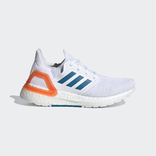 Кроссовки для бега Ultraboost 20 Primeblue Cloud White / Sharp Blue / True Orange EG4820