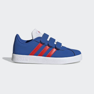 VL Court 2.0 Shoes Blue / Active Red / Cloud White EE6904