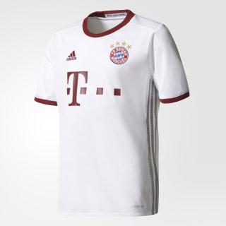 Camiseta UCL FC Bayern München WHITE/LIGHT ONIX/COLLEGIATE BURGUNDY AZ4667