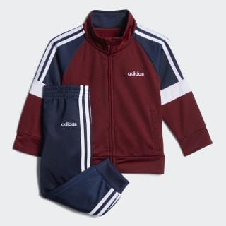 Colorblock Tricot Jacket Set Burgundy CM5452