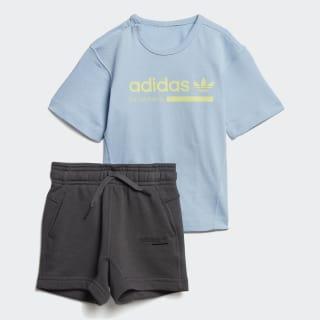 Conjunto camiseta y pantalón corto Kaval Clear Sky / Grey Six DV2330