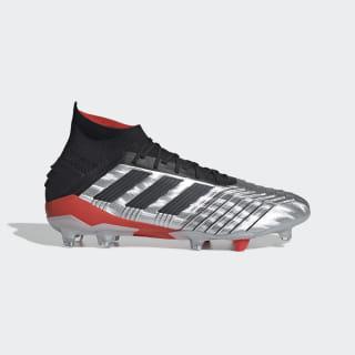 Calzado de Fútbol PREDATOR 19.1 Terreno Firme Silver Met. / Core Black / Hi-Res Red F35607