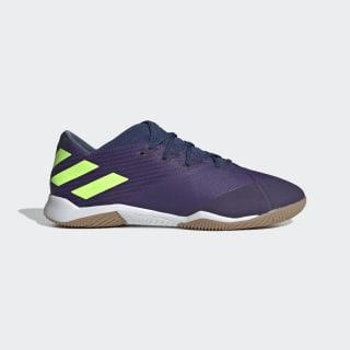 Zapatos de Fútbol Nemeziz Messi 19.3 Cancha Cubierta Tech Indigo / Signal Green / Glory Purple EF1812