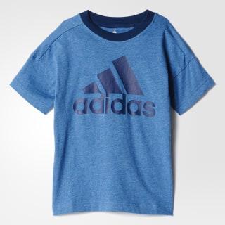 Polo deportivo LOGO niños Core Blue Mel. BK0955