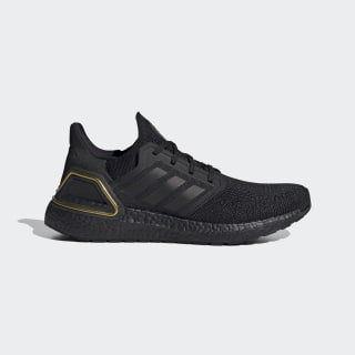 Ultraboost 20 Shoes Core Black / Core Black / Gold Metallic EG0754