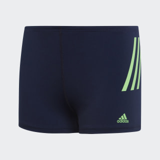 Short da nuoto Pro 3-Stripes Legend Ink / Shock Lime DP7508