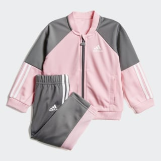 Conjunto de Chaqueta y Pantalón Shiny top:light pink/grey four f17/white bottom:grey four f17/light pink/white DV1248