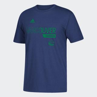 T-shirt Canucks Locker Division Nhl-Vca-51c / Blue DX2879