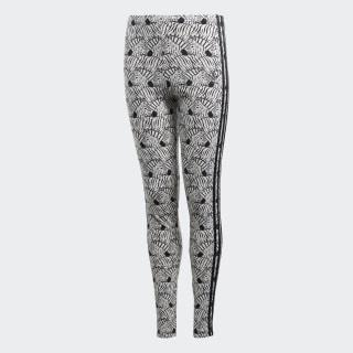 Zebra Leggings Clear Brown / Black D98905