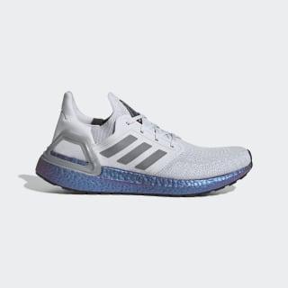 Scarpe Ultraboost 20 Dash Grey / Grey Three / Boost Blue Violet Met. EG0755