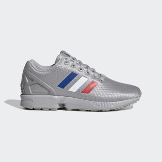 ZX Flux Shoes Grey Two / Cloud White / Team Royal Blue FV7920