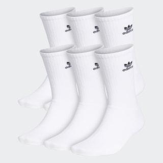 Trefoil Crew Socks 6 Pairs Whiteb CI9853