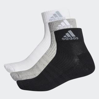 3-Stripes Performance Enkelsokken 3 Paar Black / Medium Grey Heather / Light Grey AH9872