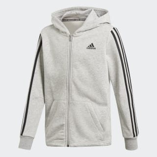 3 Stripes Full Zip Hoodie Medium Grey Heather / Black DV0822
