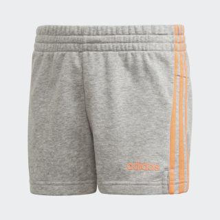 Essentials 3-Stripes Shorts Medium Grey Heather / Signal Coral FM6983