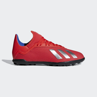 X Tango 18.3 Turf Shoes Active Red / Silver Metallic / Bold Blue BB9403