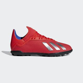 calzado de fútbol X Tango 18.3 Pasto Sintético Active Red / Silver Met. / Bold Blue BB9403