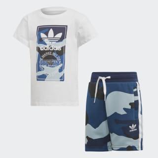 Conjunto Polera y Shorts Camouflage White / Multicolor DW3846