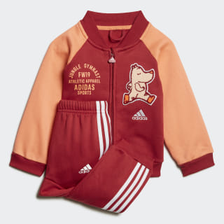 Baseball Fleece Jogger Set Active Maroon / Semi Coral ED1138