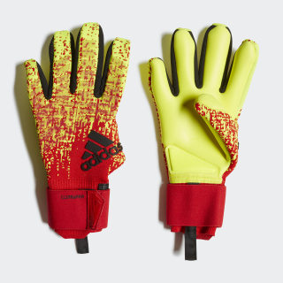 Predator Pro Climawarm Gloves Solar Yellow / Active Red / Black DN8574