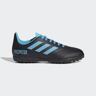 Zapatos de Fútbol Predator Tango 19.4 Césped Artificial Core Black / Bright Cyan / Solar Yellow G25826