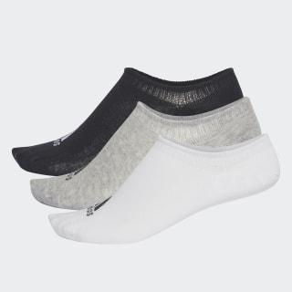 Performance Invisible Socks 3 Pairs Medium Grey Heather / White / Black CV7410