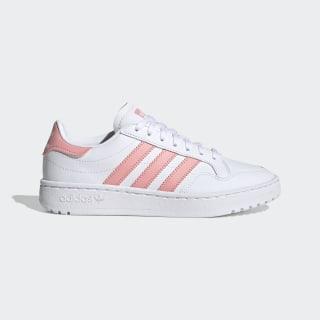Team Court Schuh Cloud White / Glory Pink / Core Black EG9089