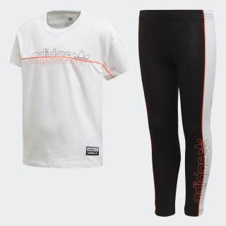 T-Shirt und Leggings Set White FM9853