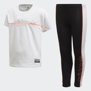 T-shirt/Legging Setje White FM9853