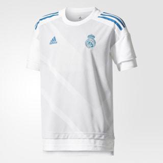 Camisola de Aquecimento Principal do Real Madrid White/Halo Blue CD9699
