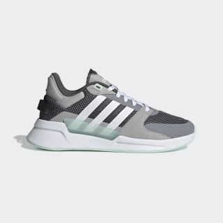 Run 90s Shoes Grey Two / Cloud White / Ice Mint EE9882