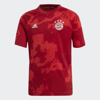 Camisola de Aquecimento do FC Bayern München Fcb True Red / Active Maroon DX9675