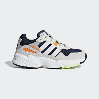 Zapatilla Yung-96 Collegiate Navy / Raw White / Solar Orange F35273