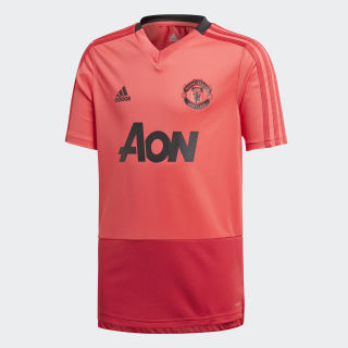 Maillot d'entraînement Manchester United Core Pink / Blaze Red / Black CW7612